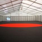 1500m² Zelthalle mit Teppichboden ausgelegt inkl. Loungepoint