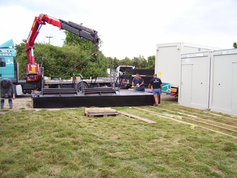 Aufstellen der Container