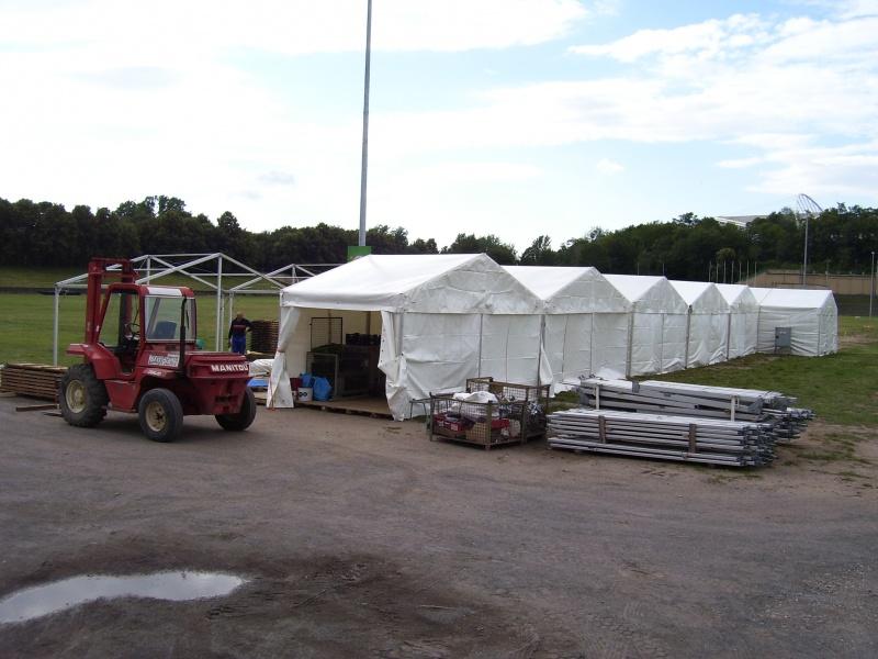 Beplanung der Zelte