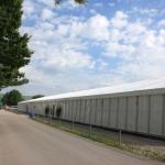 Zelt 15x75m mit Kunststofffassde